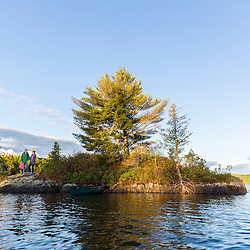 An island on Long Pond in Maine's north woods. Near Greenville, Maine.