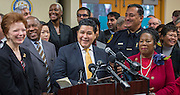 Houston ISD Superintendent Richard Carranza comments during a news conference introducing the Houston Office of New Americans and to discuss immigrant issues, December 12, 2016, at the Baker Ripley Neighborhood Center.