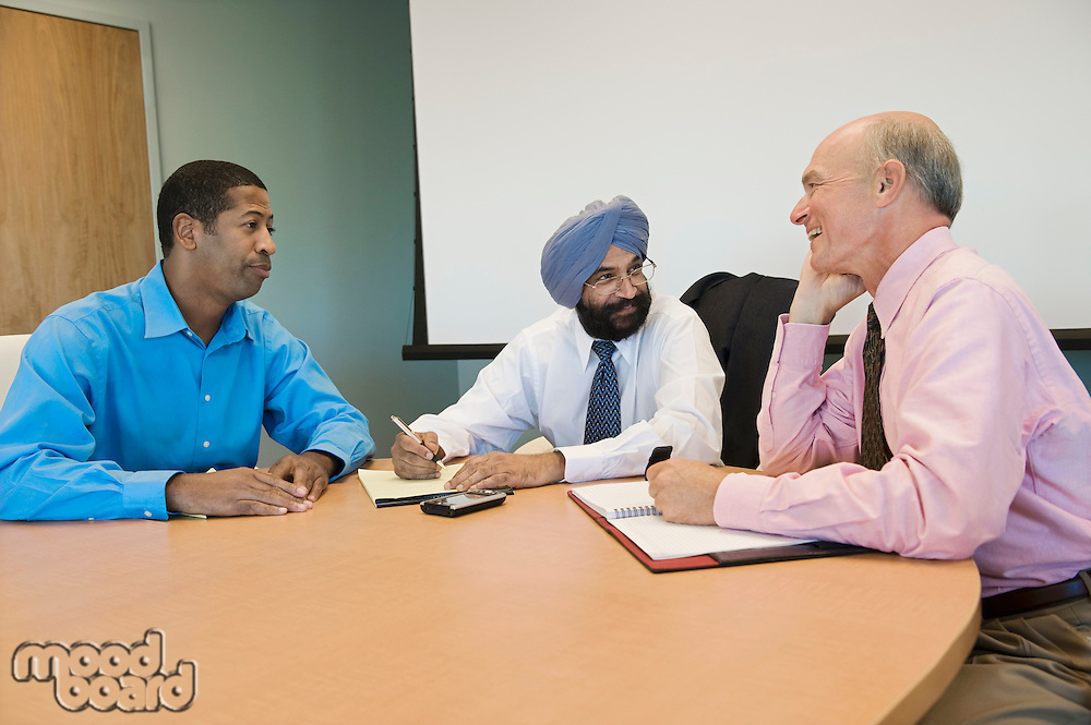 Multi Racial Group of Business People in a Meeting