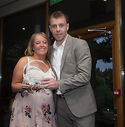 DSA committie mamber Jacqui Robertson presents Paul McGowan with the online man of the match player of the year trophy  - DSA Dundee FC player of the year dinner<br /> <br />  - &copy; David Young - www.davidyoungphoto.co.uk - email: davidyoungphoto@gmail.com
