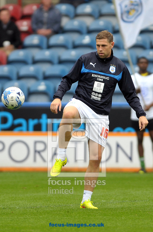Grant Holt new loan striker of Huddersfield Town before the Sky Bet Championship match at the John Smiths Stadium, Huddersfield against Millwall<br /> Picture by Graham Crowther/Focus Images Ltd +44 7763 140036<br /> 27/09/2014