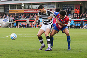 Forest Green Rovers Omar Bugiel(11) shields the ball during the Vanarama National League match between Dagenham and Redbridge and Forest Green Rovers at the London Borough of Barking and Dagenham Stadium, London, England on 11 March 2017. Photo by Shane Healey.