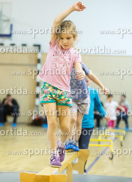 Telovadne urice skupine Metulji iz vrtca Rozle, on March 27, 2015 in SUS Eurofitness, Ljubljana Slovenia. Photo by Vid Ponikvar / Sportida