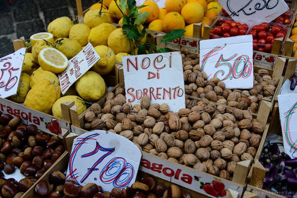 Lemons and walnuts in Sorrento
