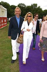 MIKE & ANGIE RUTHERFORD at the Kuoni World Class Polo Day at Hurtwood Park Polo Club, Surrey on 28th May 2006.<br />