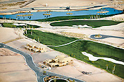 Though drought conditions are the norm in the Las Vegas area, golf courses and large-scale luxury housing developments continue to be built on the arid landscape.  This community in western Las Vegas gets most of its water from nearby Lake Mead, whose water levels have sunk to below half of their original volume.