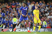 Chelsea striker Michy Batshuayi (23) smiling during the EFL Cup match between Chelsea and Bristol Rovers at Stamford Bridge, London, England on 23 August 2016. Photo by Matthew Redman.