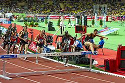 July 20, 2018 - Monaco - 3000m Steeplechase hommes - Andrew Bayer (Etat Unis) - Nicholas Kiptanui Bett  (Credit Image: © Panoramic via ZUMA Press)