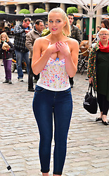 FHM's 'Sexiest Woman in the UK'  Helen Flanagan during unveiling of PETA Advert: 'Leave Wildlife out of Your Wardrobe' in Covent Garden, London, UK, 23 May 2013. Photo by: Nils Jorgensen / i-Images