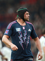England international and Stade Francais second row Tom Palmer. Stade Toulousain v Stade Francais, 9eme Journee, Top 14, Rugby, Stade Ernest Wallon, Toulouse, France, 29th October 2011.