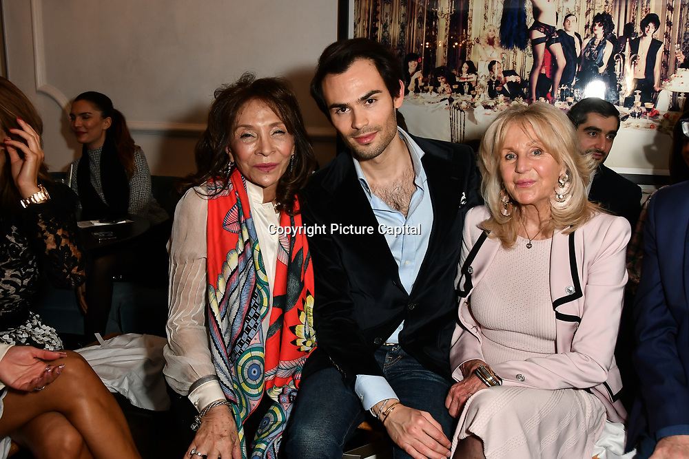 Mark-Francis Vandelli and Liz Brewer attend Nina Naustdal catwalk show SS19/20 collection by The London School of Beauty & Make-up at Bagatelle on 26 Feb 2019, London, UK.
