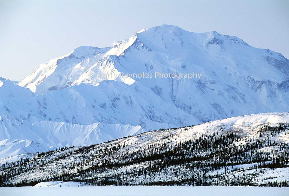 Mount McKinley, Wonder Lake, Sunrise, Winter, Denali National Park, Alaska