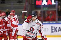 2019-10-23 | Ljungby, Sweden: Hanhals (9) Henrik Persson after Troja / Ljungby scored 2-2 during the game between IF Troja / Ljungby and Hanhals IF at Ljungby Arena ( Photo by: Fredrik Sten | Swe Press Photo )<br /> <br /> Keywords: Ljungby, Icehockey, HockeyEttan, Ljungby Arena, IF Troja / Ljungby, Hanhals IF, fsth191023, ATG HockeyEttan