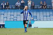 Barry Bannan of Sheffield Wednesday Celebrates scoring a goal during the EFL Sky Bet Championship match between Sheffield Wednesday and Bristol City at Hillsborough, Sheffield, England on 22 April 2019.