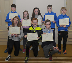 Westport Athletics Awards 2017/18<br />Connacht Medalists<br />Front Sarah Staunton, Padraig Corduff and Jack Sweeney<br />Standing Cillian McGing, Ruby Sweeney, Anne O'Donnell, Colin Hastings and Luke Durcan<br />Pic Conor McKeown