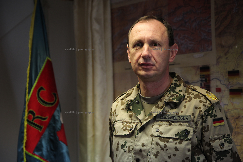 General Frank Leidenberger, Regional Command North, Camp Marmal near Mazar-e Sharif, Afghanistan.