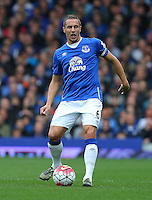 Everton's Phil Jagielka during the Barclays Premier League match at Goodison Park, Liverpool.