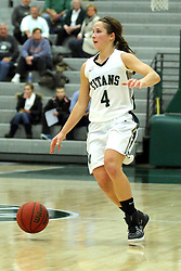 25 November 2014: Rebekah Ehresman  during an NCAA women's division 3 CCIW basketball game between the Wisconsin Whitewater Warhawks and the Illinois Wesleyan Titans in Shirk Center, Bloomington IL