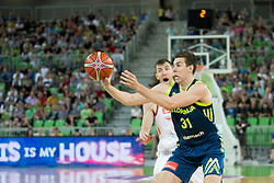 Vlatko Cancar of Slovenia during basketball match between Slovenia and Spain in Round #5 of FIBA Basketball World Cup 2019 European Qualifiers, on June 28, 2018 in SRC Stozice, Ljubljana, Slovenia. Photo by Urban Urbanc / Sportida
