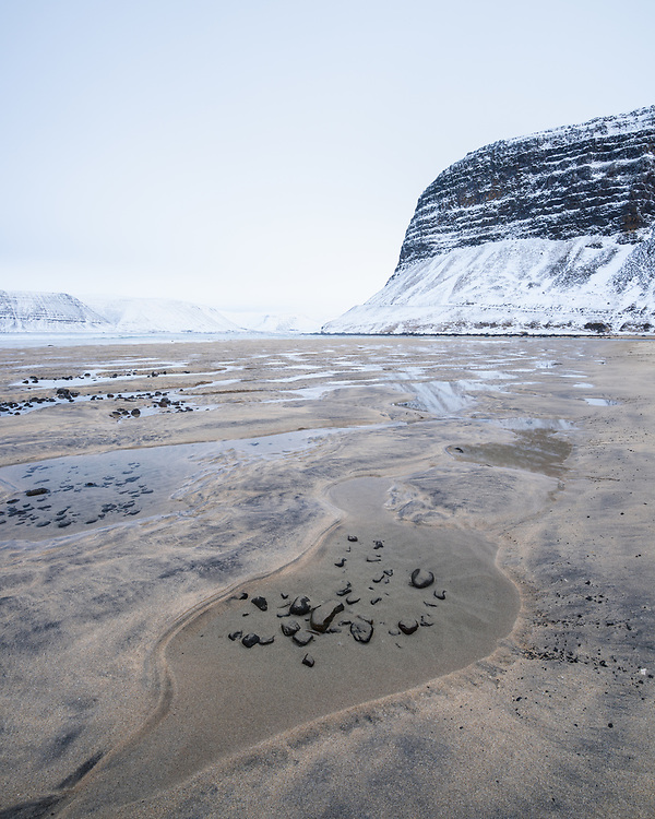 Beach below Latrabjarg Hotel, Iceland
