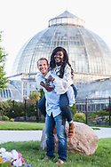 Zac and Melody engagement photos at Detroit Institute of Arts and Belle Isle in Detroit, Michigan.