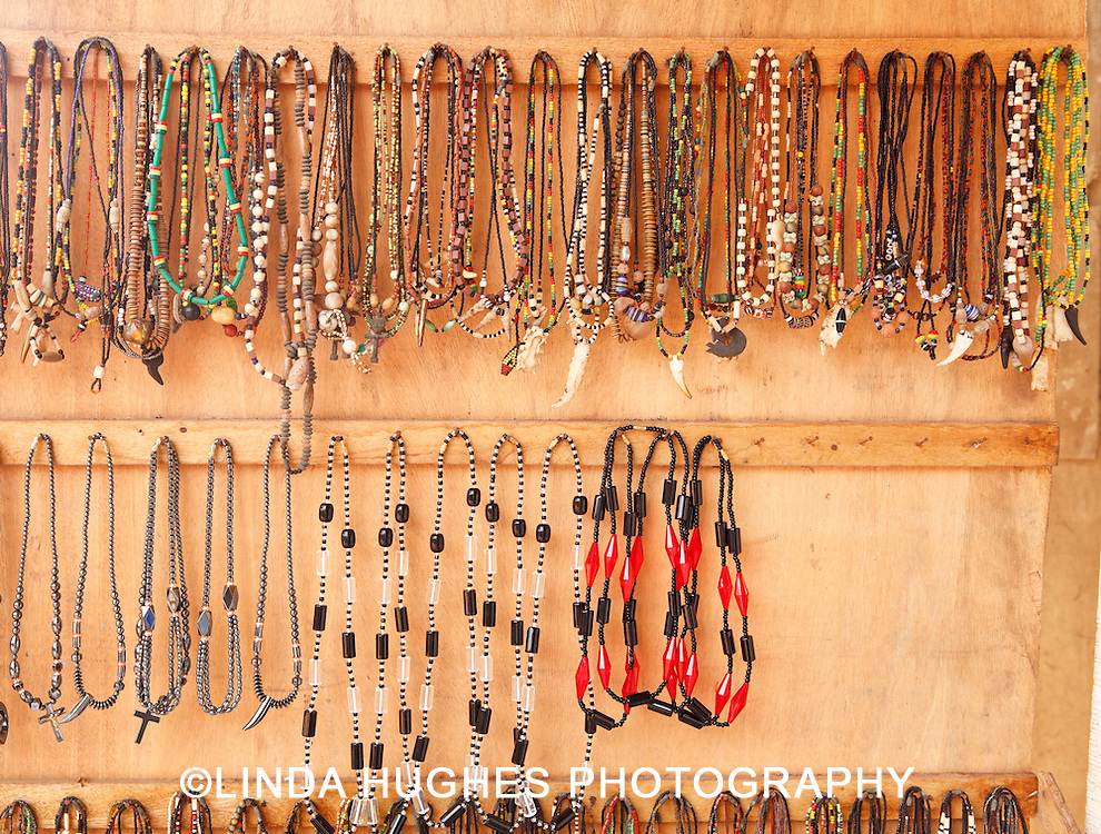 Jewelry at an outdoor market in Accra Ghana