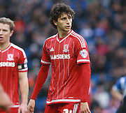 Middlesbrough FC striker Diego Fabbrini during the Sky Bet Championship match between Brighton and Hove Albion and Middlesbrough at the American Express Community Stadium, Brighton and Hove, England on 19 December 2015. Photo by Bennett Dean.