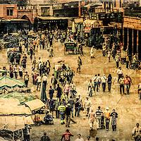 The famous Marrakech market, Morocco