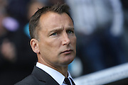 Derby County manager Darren Wassall during the Sky Bet Championship play-off first leg match between Derby County and Hull City at the iPro Stadium, Derby, England on 14 May 2016. Photo by Aaron  Lupton.