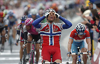 Sykkel<br /> Tour de France 2004<br /> 11.07.2004<br /> Foto: Dppi/Digitalsport<br /> Norway Only<br /> <br /> STAGE 8 - LAMBALLE >  QUIMPER<br /> <br /> Thor Hushovd (Credit Agricole)