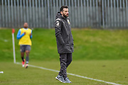 Leeds United Under 23's Head Coach Carlos Corberan Vallet during the U23 Professional Development League match between Barnsley and Leeds United at Oakwell, Barnsley, England on 9 March 2020.