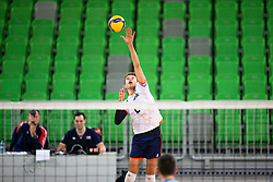 30-12-2019 SLO: Slovenia - Netherlands, Ljubljana<br /> Wessel Keemink of the Netherlands during friendly volleyball match between National Men teams of Slovenia and Netherlands