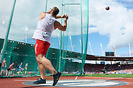 Pawel Fajdek from Poland competes in men's hammer throw final during the Fifth Day of the European Athletics Championships Zurich 2014 at Letzigrund Stadium in Zurich, Switzerland.<br /> <br /> Switzerland, Zurich, August 16, 2014<br /> <br /> Picture also available in RAW (NEF) or TIFF format on special request.<br /> <br /> For editorial use only. Any commercial or promotional use requires permission.<br /> <br /> Photo by © Adam Nurkiewicz / Mediasport