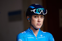 Rachel Neylan (AUS) waits to sign on at Emakumeen Bira 2018 - Stage 1, a 108 km road race starting and finishing in Legazpi, Spain on May 19, 2018. Photo by Sean Robinson/Velofocus.com