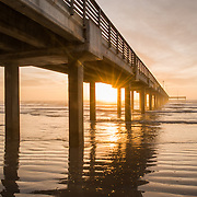 Horace Caldwell Pier at Sunrise - Port Aransas, Texas