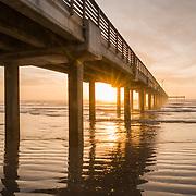 Horace Caldwell Pier at Sunrise - Port Aransas, Texas