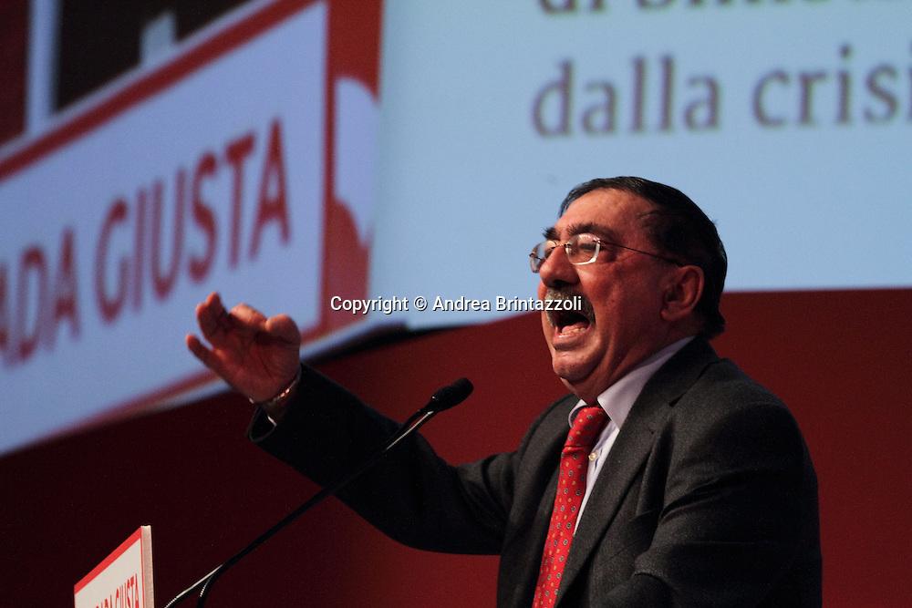 Riccione 25 Gennaio 2014 - 2&deg; Congresso Nazionale Sinistra Ecologia Liberta' - SEL.<br /> Intervento di Fabio Mussi al congresso SEL