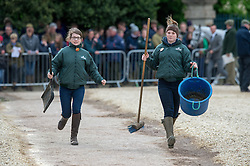 The clean up team<br /> First Horse Inspection - Mitsubishi Motors Badminton Horse Trials <br /> Badminton 2015