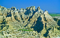 The Castle formation as seen from Norbeck Ridge.  Badlands National Park, south Dakota.