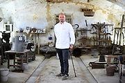 Jesper Vollmer, Chef to Her Majesty the Queen of Denmark, poses for a portrait in the Cascina Colombara during the annual meeting of the Club des Chefs des Chefs in Livorno Ferraris, Vercelli, Italy, July 18, 2015.<br /> The Club des Chefs des Chefs, which is seen as the world's most exclusive gastronomic society, has extremely strict membership criteria: to be accepted into this highly elite club, you need to be the current personal chef of a head of state. If he or she does not have a personal chef, members can be the executive chef of the venue that hosts official State receptions. One of the society's primary purposes is to promote major culinary traditions and to protect the origins of each national cuisine. The Club des Chefs des Chefs also aims to develop friendship and cooperation between its members, who have similar responsibilities in their respective countries. <br /> The annual meeting of the Club has been hosted this year in the production site of the Italian rice company called Riso Acquerello. <br /> © Giorgio Perottino