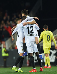 January 26, 2019 - Valencia, Valencia, Spain - Valencia CF players celebrates a goal during the La Liga Santander match between Valencia and Villarreal at Mestalla Stadium on Jenuary 26, 2019 in Valencia, Spain. (Credit Image: © Maria Jose Segovia/NurPhoto via ZUMA Press)