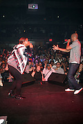 8 May 2010- New York, NY- l to r: Queen Latifah and Common perform at the Just Right Night with Common Produced by Jill Newman Productions and held at Highline Ballroom on May 8, 2010 in New York City.