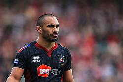 Wigan Warriors' Thomas Leuluai during the Super League match at the Totally Wicked Stadium, St Helens. PRESS ASSOCIATION Photo. Picture date: Friday March 30, 2018. See PA story RUGBYL St Helens. Photo credit should read: Matt McNulty/PA Wire. RESTRICTIONS: Editorial use only. No commercial use. No false commercial association. No video emulation. No manipulation of images.