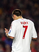 Franck Ribery prays before the UEFA Champions League quarter final first leg match between FC Barcelona and FC Bayern Munich at the Camp Nou stadium on April 8, 2009 in Barcelona, Spain.