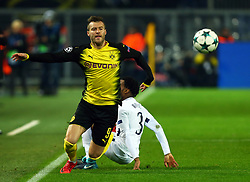 November 21, 2017 - Dortmund, Germany - Andriy Yarmolenko of Borussia Dortmund (Left) gets tackles by Tottenham Hotspur's Danny Roseduring UEFA Champion  League Group H Borussia Dortmund between Tottenham Hotspur played at Westfalenstadion, Dortmund, Germany 21 Nov 2017  (Credit Image: © Kieran Galvin/NurPhoto via ZUMA Press)