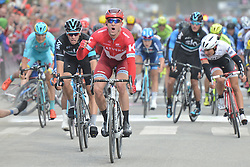 August 11, 2016 - Rognan, Norway - Alexander Kristoff from Team Katusha wins the opening stage of the Arctic Race of Norway from Bodo to Rognan..On Thursday, 11 August 2016, in Rognan, Norway. (Credit Image: © Artur Widak/NurPhoto via ZUMA Press)