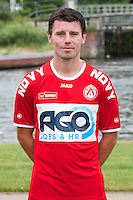 Kortrijk's Stijn Desmet poses for the photographer during the 2014-2015 season photo shoot of Belgian first league soccer team KV Kortrijk, Tuesday 08 July 2014 in Kortrijk.