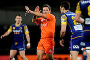 Referee Nick Briant during the Mitre 10 Competition match between Otago and Wellington at Forsyth Barr Stadium on August 25, 2016 in Dunedin, New Zealand. Credit: Joe Allison / www.Photosport.nz