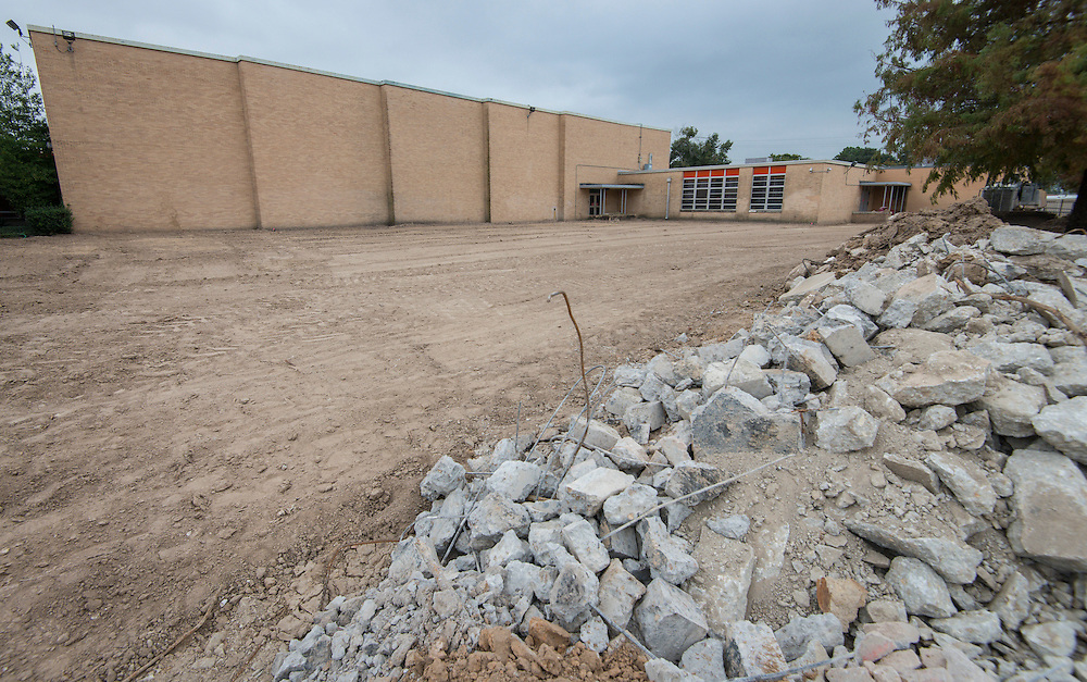 Construction at Waltrip High School, October 20, 2015.