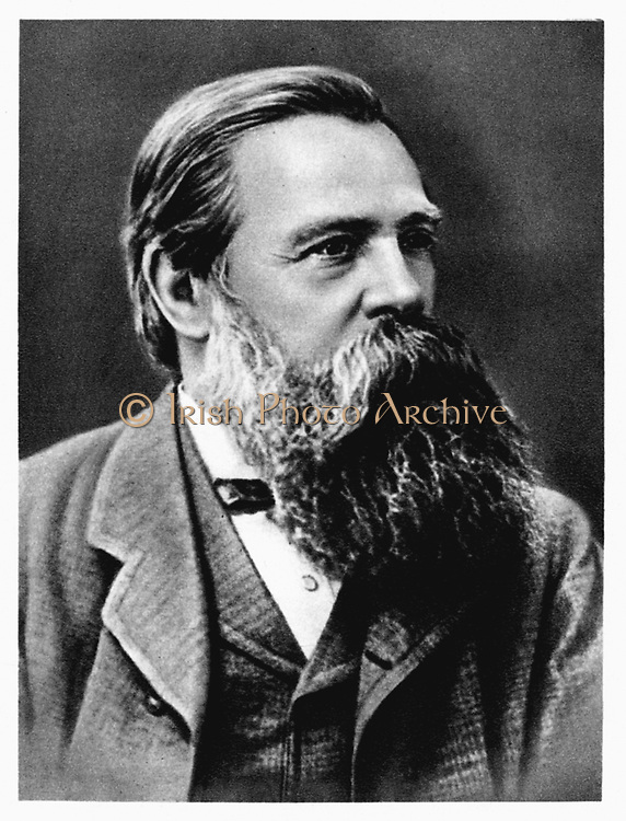 Friedrich Engels (1820-95) in 1879. German socialist and collaborator and supporter of Karl Marx. Lived mainly in England from 1842.  Cooperated on the Communist Manifesto (1848).